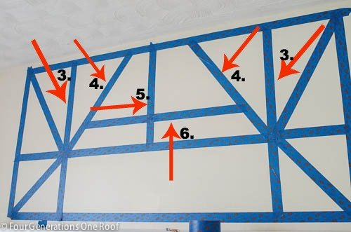 painted diy wall art with scotch blue painters tape for delicate surfaces