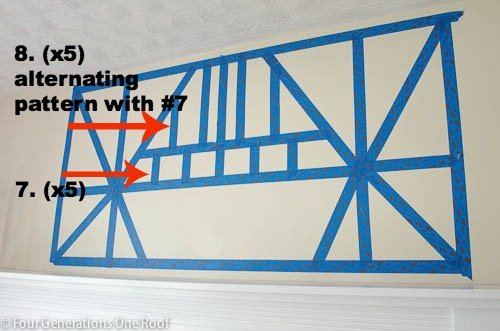 painted diy wall art with scotch blue painters tape for delicate surfaces www.fourgenerationsoneroof.com