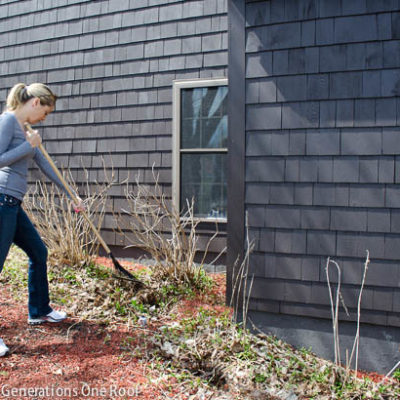 Our flower bed curb appeal project {phase 2 – the work!}