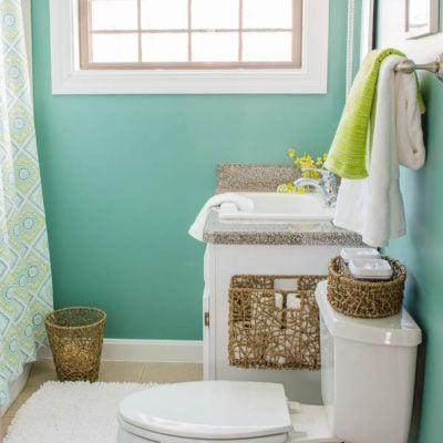 Our Master Bathroom {before & after}