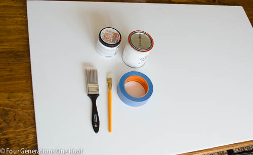 Our Orange Ombre Wall Art {tutorial}