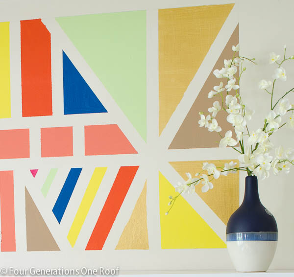 Painted DIY Wall Art using Scotch Blue painters tape for delicate surfaces