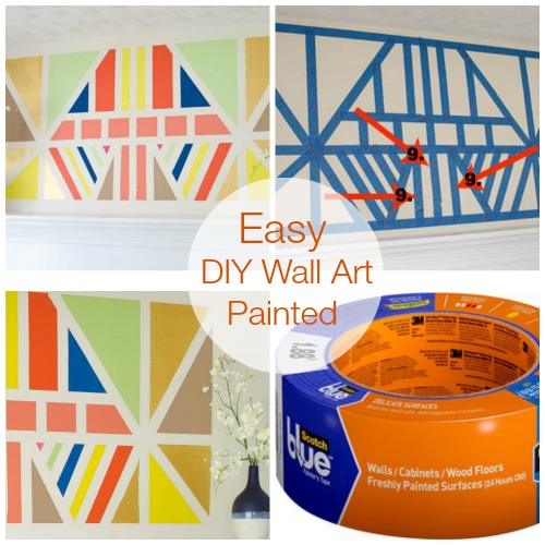 Love this painted DIY wall art tutorial by www.fourgenerationsoneroof.com
