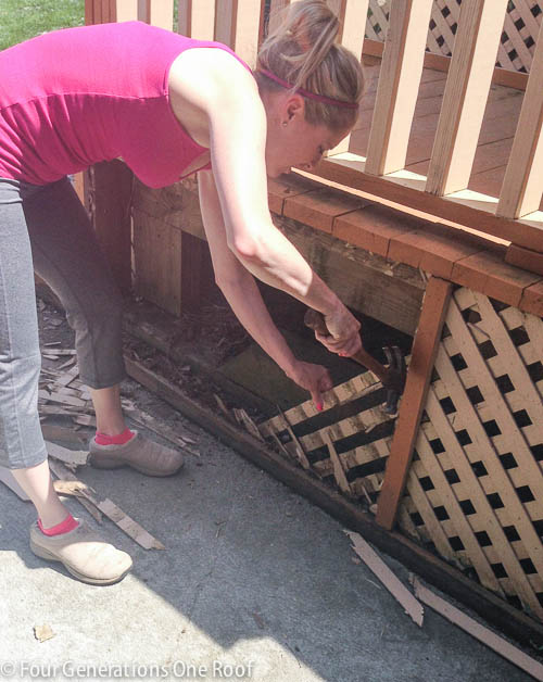 Deck repair + ripping out old lattice-2