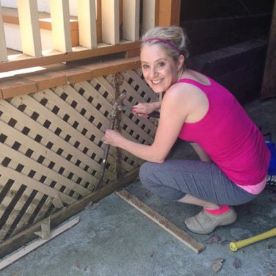 I destroyed our deck with a hammer and crow bar {deck repair}