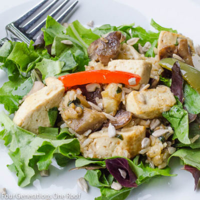 Tofu Stir Fry dinner {with eggplant}