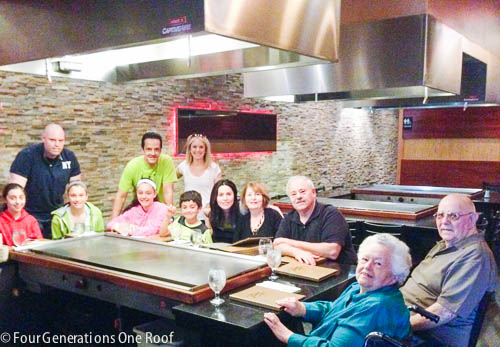 family time hibicachi restaurant +  grandparents update