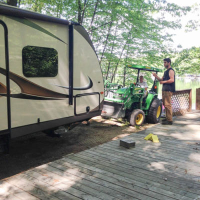 Clean up at the campsite {Summer lake project}
