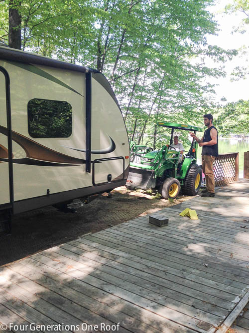 clean up campsite summer lake project