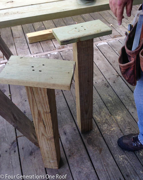 how to build stairs {campsite lake project}