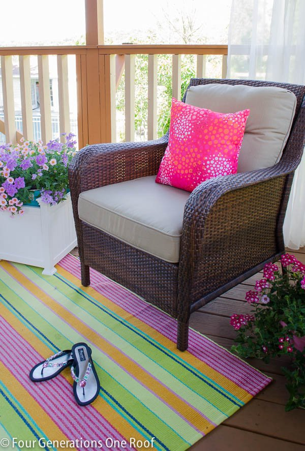 Our summer covered porch makeover
