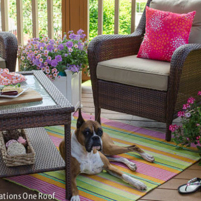 Our Colorful Summer Covered Porch