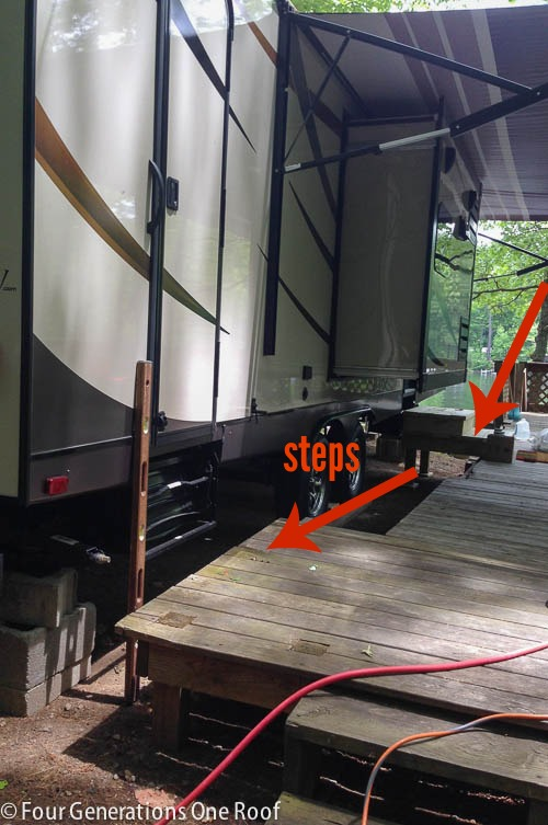 summer lake project update {deck + stairs}