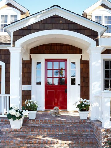 how to add curb appeal with a portico