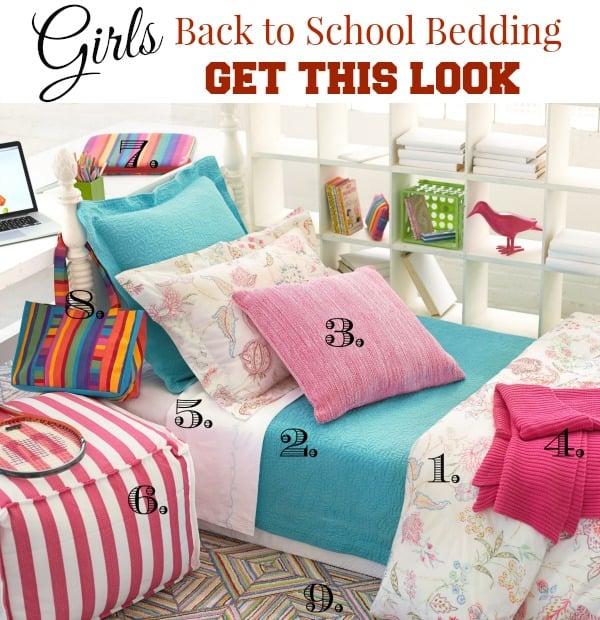 girls back to school bedding get this look #backtoschool #dormlife