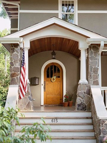 how to add curb appeal with a portico front porch