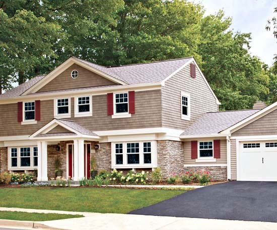 How to add curb appeal with a portico four generations one roof - The shutter clad house ...