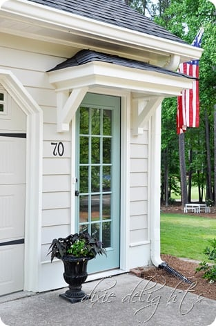 how to add curb appeal with a portico side door & How to Add Curb Appeal with a Portico - Four Generations One Roof