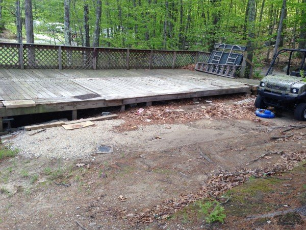 building a deck over a deck {campsite}