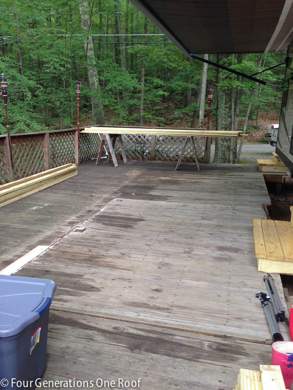 How To build a deck over a deck {campsite}