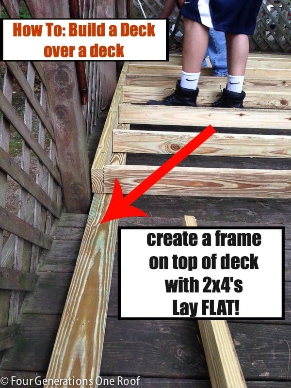 building a deck over a deck {campsite graphic