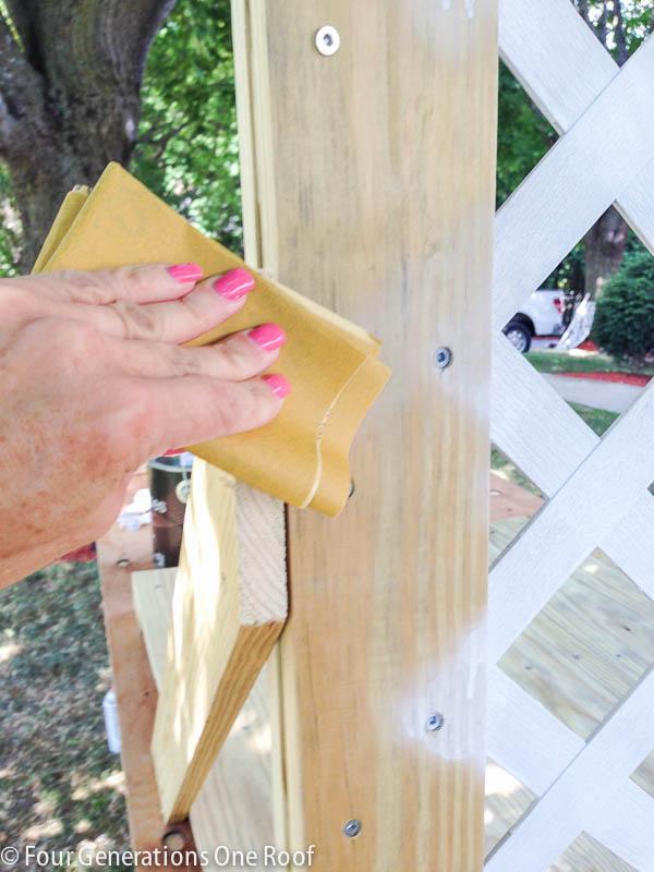 diy lattice privacy screen hide garbage can-16