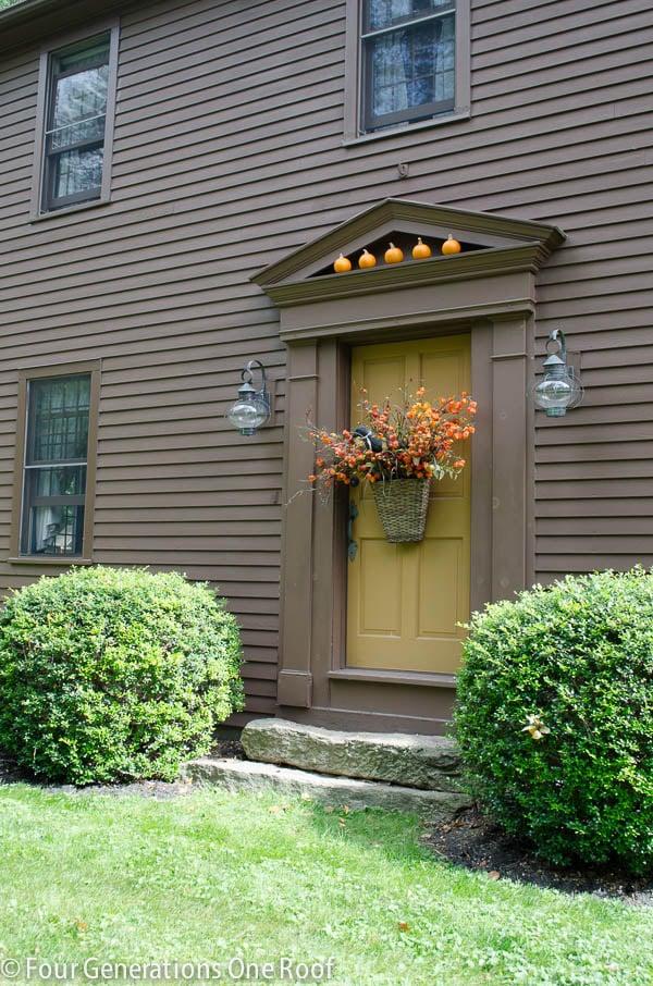 gorgeous fall front door basket hanger