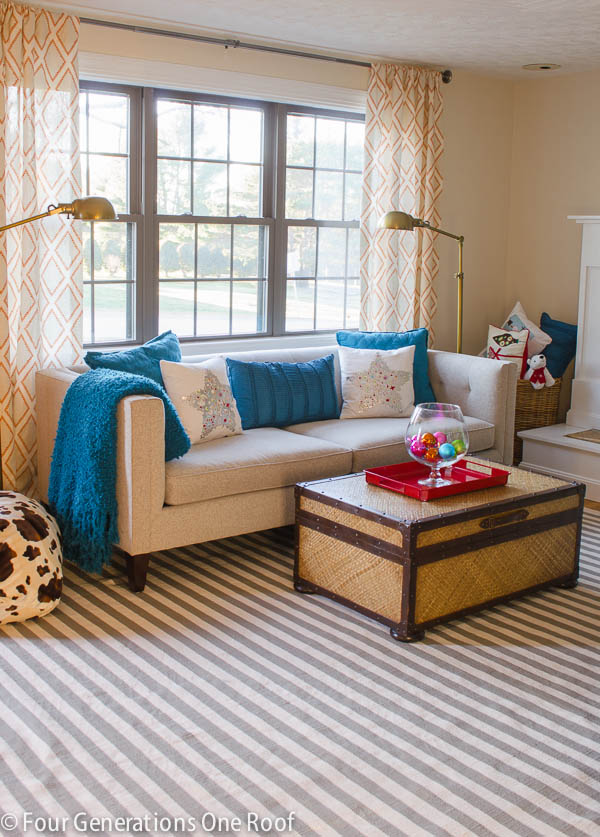 window treatments for the dining room and study