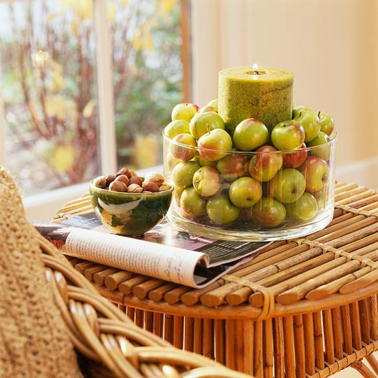 decorating for fall green apples
