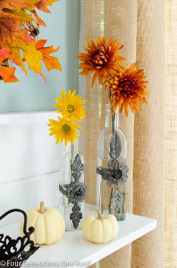 Fall Decorating Ideas Glass Vases Four Generations One Roof