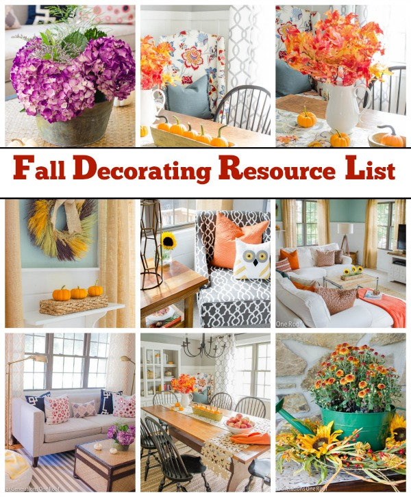 Fresh Fall Home Decorating Ideas Home Tour: Resource List {Fall Home Tour