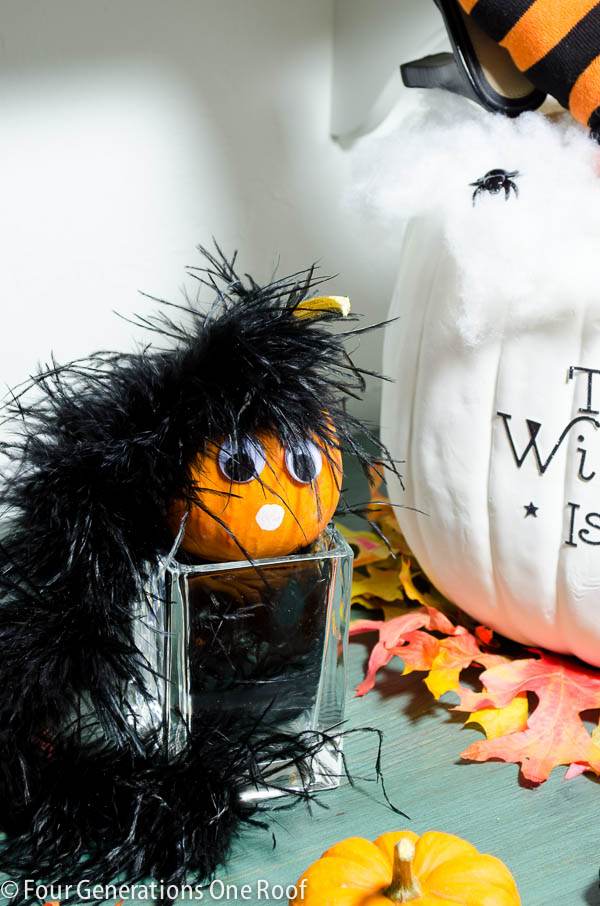 fun diy halloween pumpkin in 30 minutes or less + tutorial