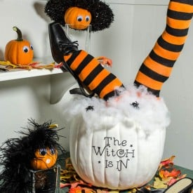 Cute DIY Halloween Pumpkin in 30 minutes or less