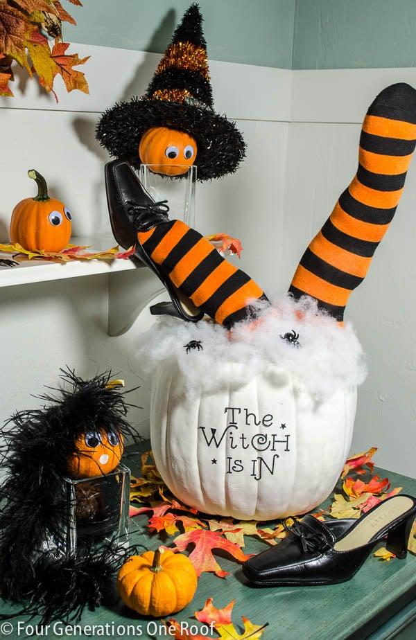 Cute Diy Halloween Pumpkin 30 Minutes Four Generations