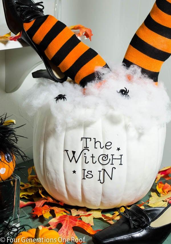 cute diy halloween pumpkin 30 minutes or less tutorial