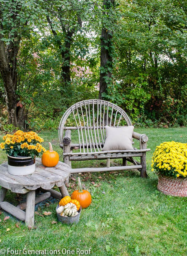 Simple Outdoor Fall Decorating At My Friends Home Four