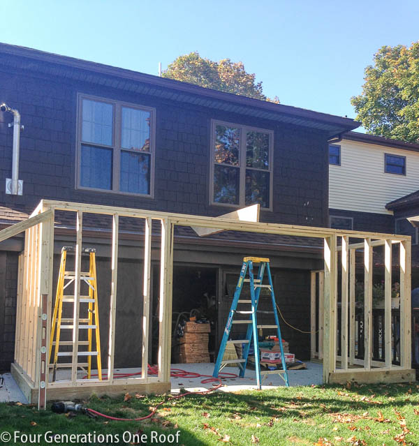Framing the new shed -7