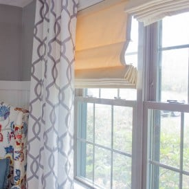 window makeover with roman shades {before & after}