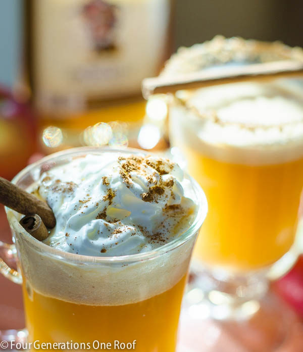 Quick Apple Cider Recipe: how to make hot apple cider that can be served with or without Rum