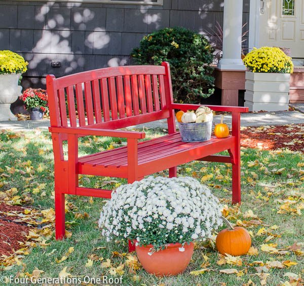 Red Bench Makeover