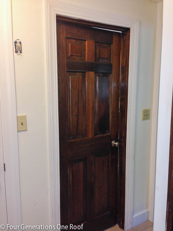 how to paint dark stained doors-3