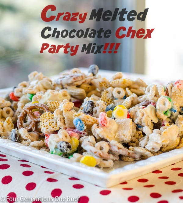 Crazy Melted Chocolate Chex Party Mix