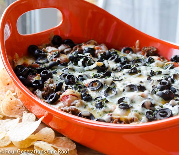 Easy Mexican Layer Hot Cheese Dip