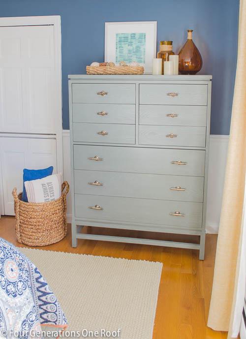 Gorgeous Navy blue master bedroom makeover -10