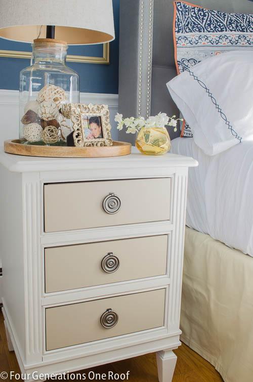 Gorgeous Navy blue master bedroom makeover -13