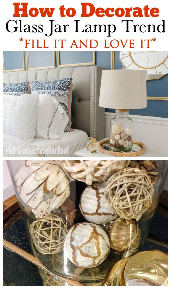 how to decorate with a glass jar lamp four generations one roof. Black Bedroom Furniture Sets. Home Design Ideas