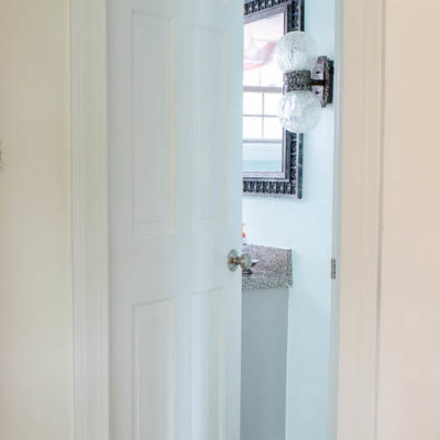 How to paint dark stained doors {before & after}