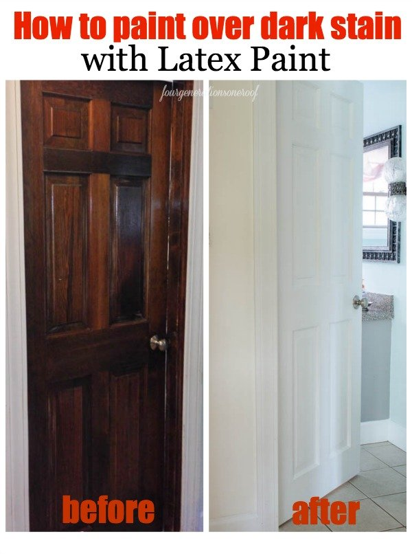 How To Paint Over Dark Stained Wood With White Latex
