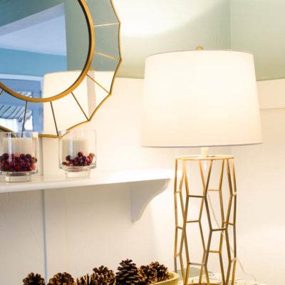 New brass lamp + Home Energy Savings!