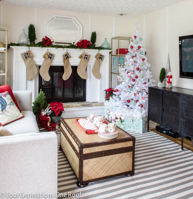 4 generations Christmas Home Tour The playroom